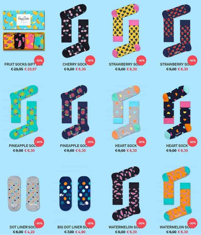 Happy socks sale selectie