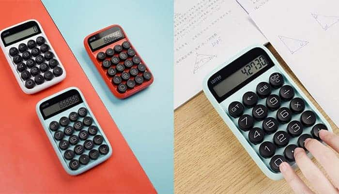 Lofree mechanische retro rekenmachine