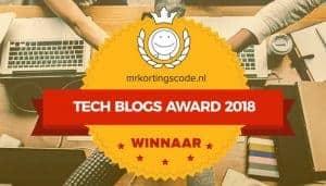 Tech blog van het jaar awards 2018
