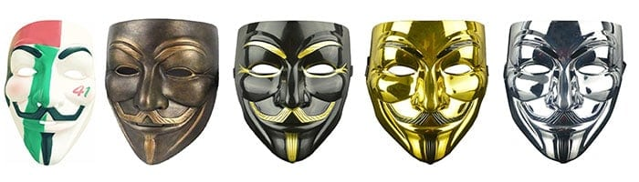 Anonymous guy fawkes maskers