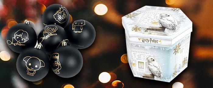 Zwarte Harry Potter kerstballen