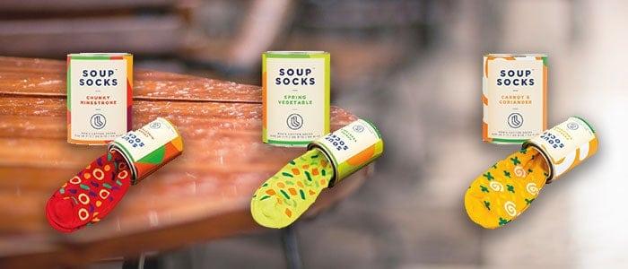 Soep sokken uit blik