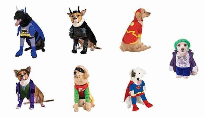 DC Comics superhelden honden kostuums
