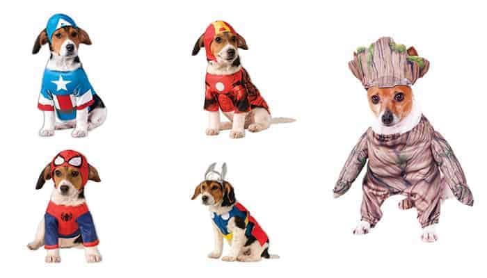 Marvel Avengers superhelden honden kostuums