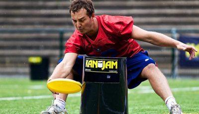 KanJam frisbee spel wedstrijd
