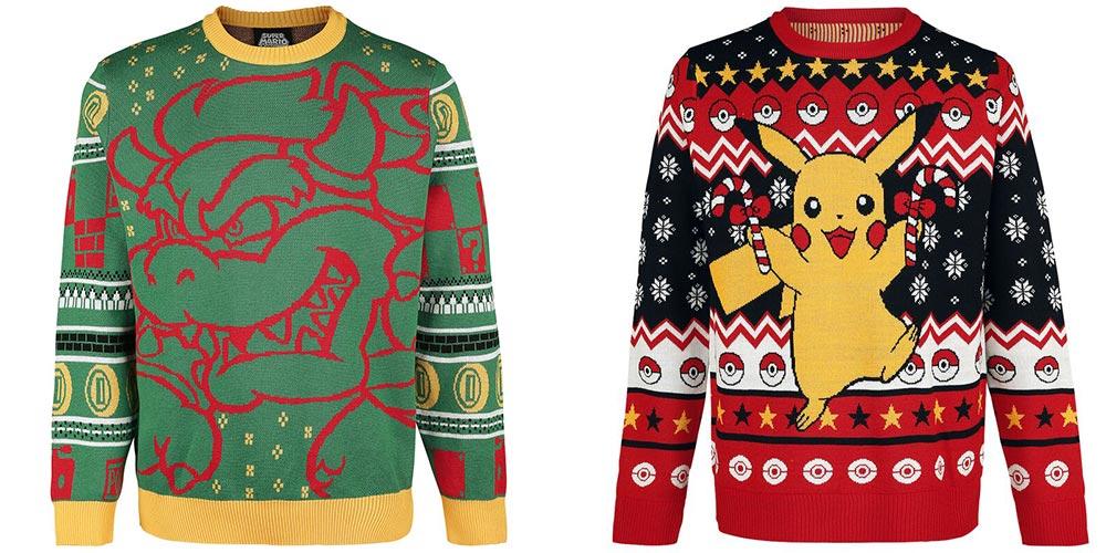 Nintendo Bowser en Pikachu kersttrui