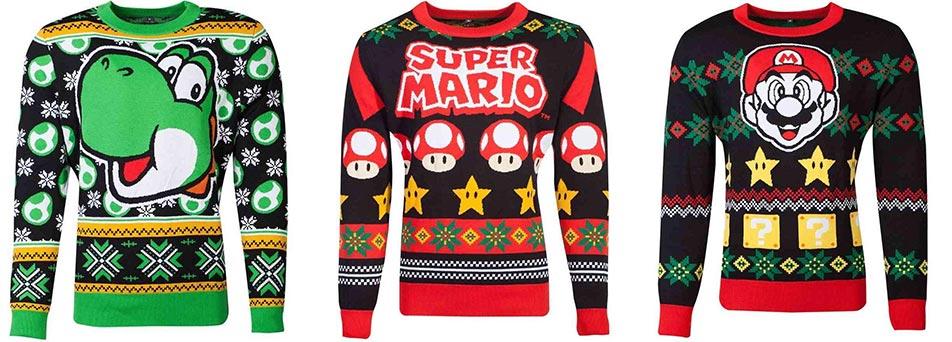 Nintendo kersttruien Mario Yoshi